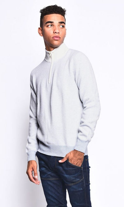 3VERY 1/4 Zip w. Pattern