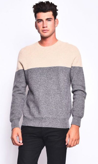 3VERY Cozy 2-Tone Round Neck