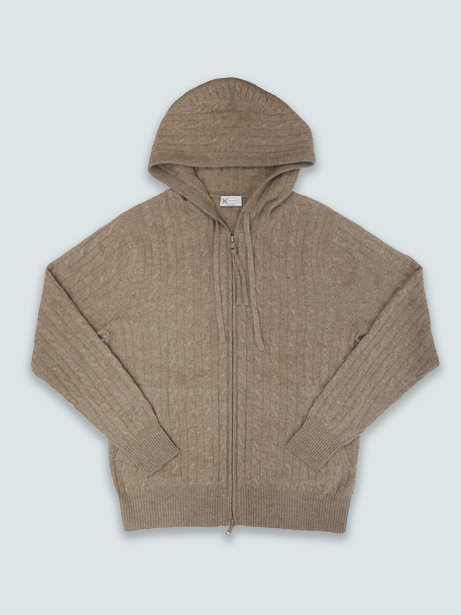 Classic Cable Knit Hoodie