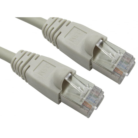 Shielded Cat 6 Ethernet Patch Cable (Grey) - 1m