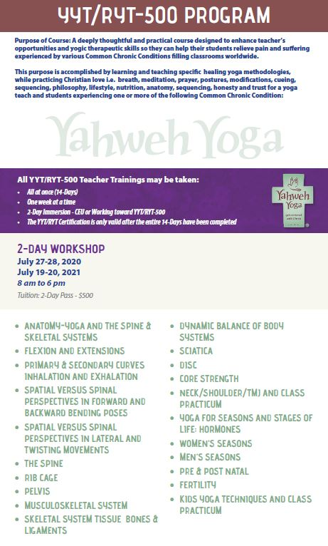 Anatomy-Yoga-Yoga for Seasons and Stages of Life: Hormones:Pre & Post Natal • Fertility • Kids Yoga Techniques and class practicum