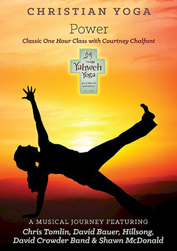 One Hour Power yoga DVD with Courtney Chalfant and contemporary music