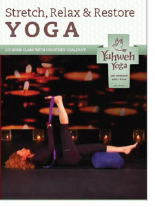 one hour Restorative stretch yoga DVD