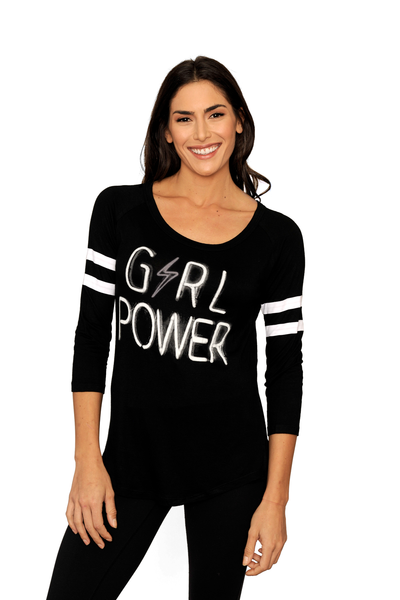 Girl Power Baseball Long Sleeve Tee