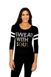 Sweat With Soul Baseball Long Sleeve Tee