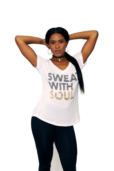 Sweat With Soul V-Neck Tee
