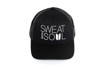 Sweat With Soul Trucker Black