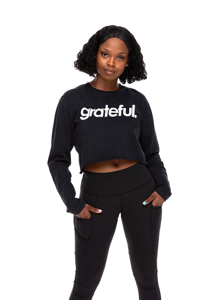 Grateful Period Crop Long Sleeve Tee