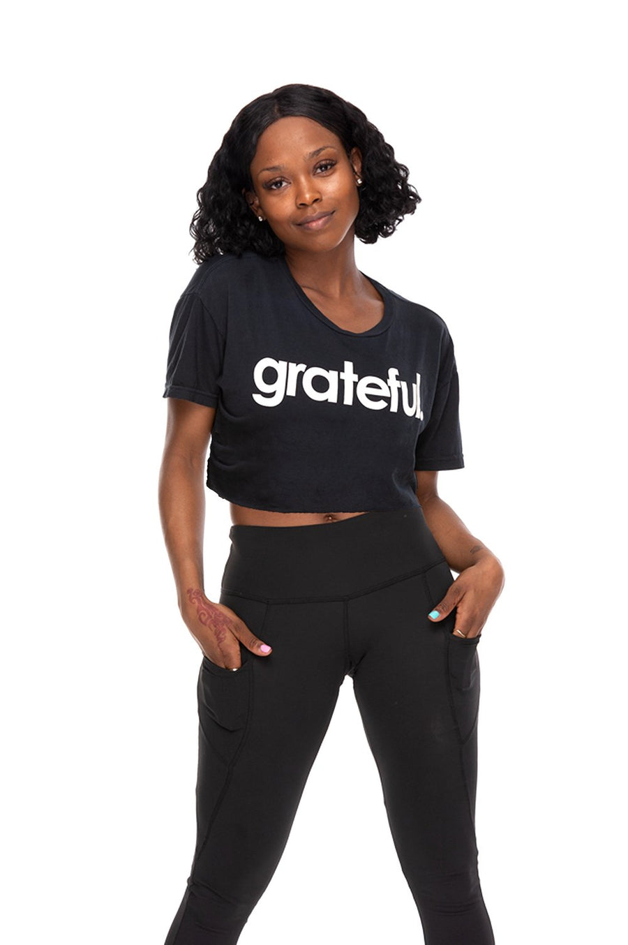 Grateful Period Crop Crew Neck Tee