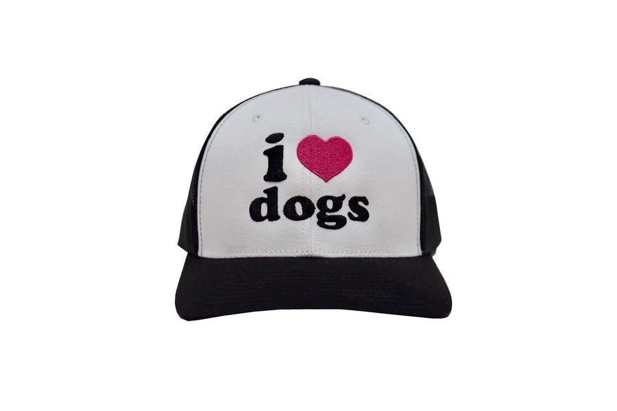 I Love Dogs Classic Trucker White