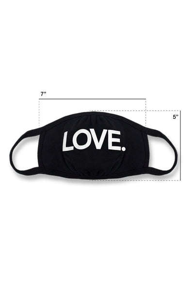 LOVE All Caps Mask Black/White
