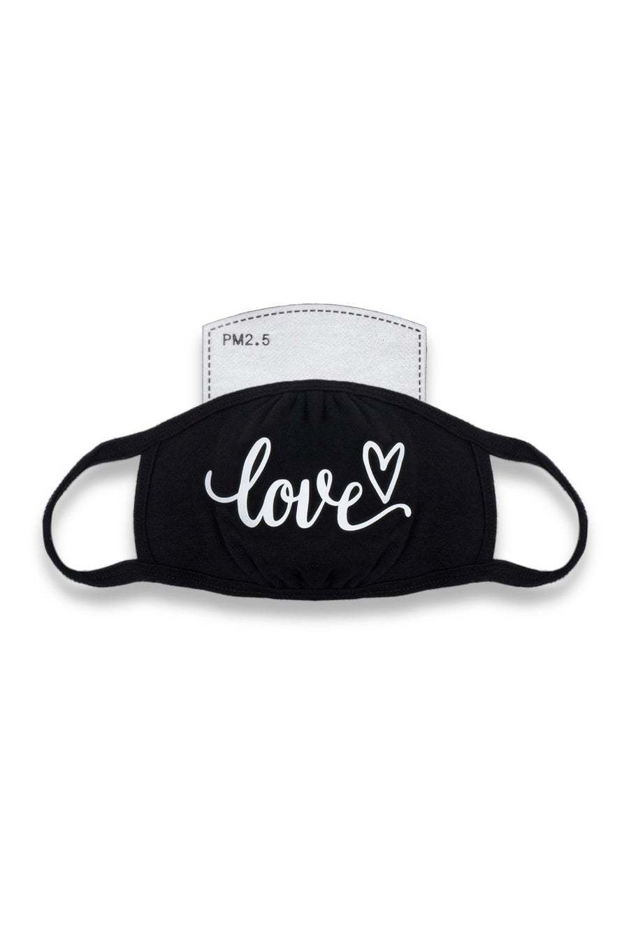 Love Cursive Mask Black/White
