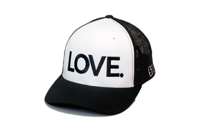 LOVE All Caps Trucker Black/White/Black