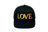 LOVE All Caps Trucker Black/Gold