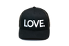 LOVE All Caps Trucker Black/White