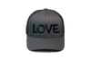 Love All Caps Trucker Charcoal/Black