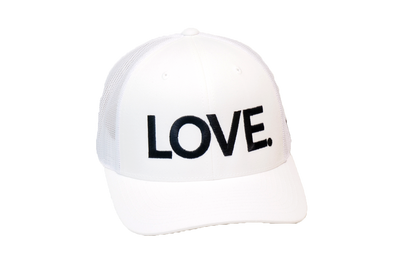 LOVE All Caps Trucker White/Black