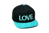 LOVE All Caps Solid Baseball Black/Turquoise/Black (Limited Edition)