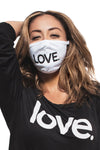 LOVE All Caps Mask White/Black