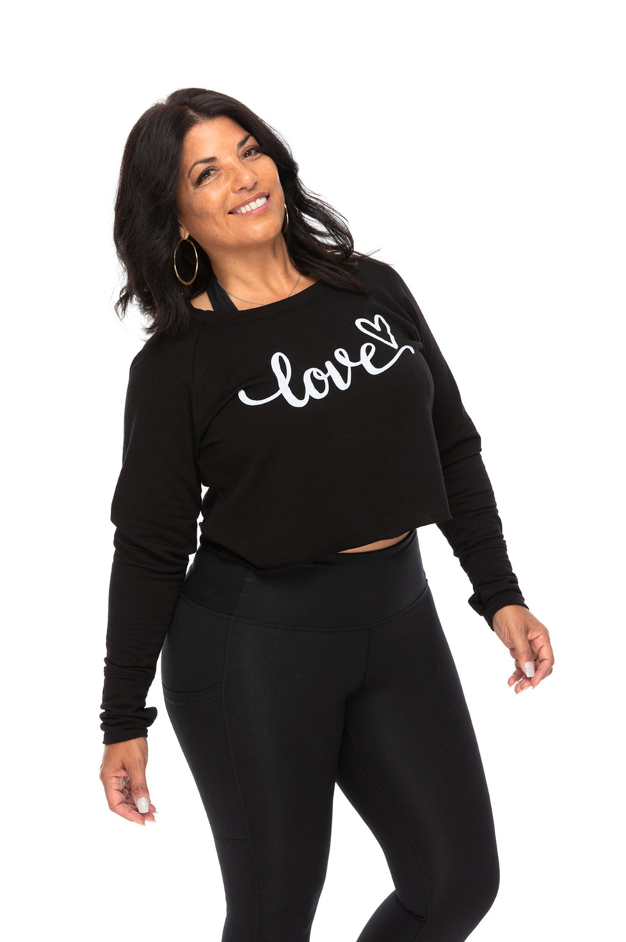 Love Fleece Crop Long Sleeve Pullover
