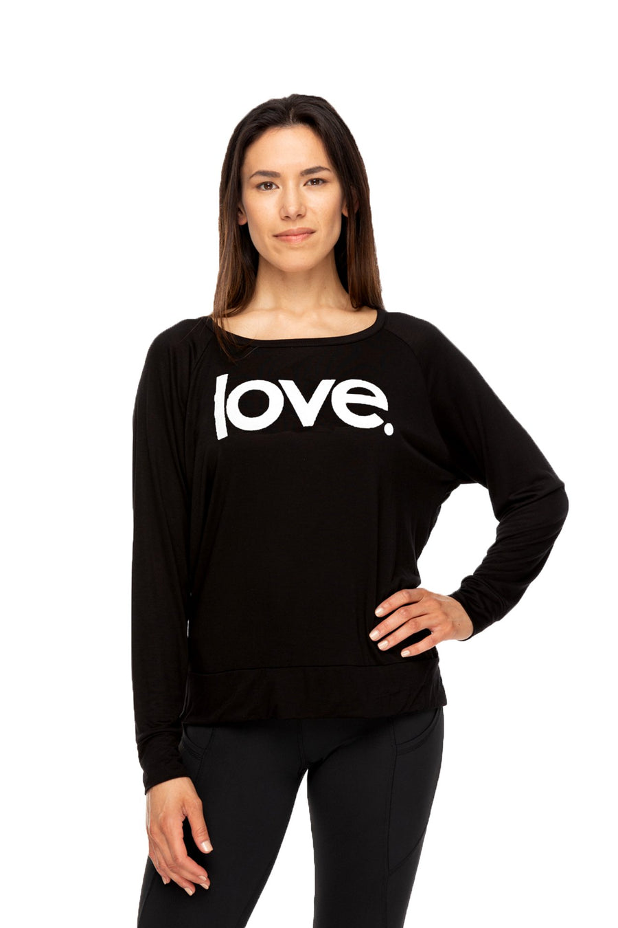 Love Period Long Sleeve Tee Black