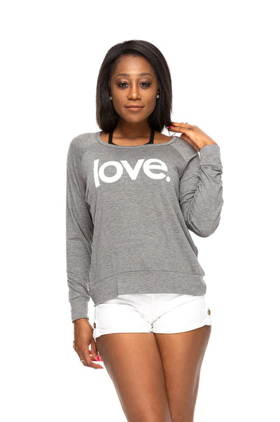 Love Period Long Sleeve Tee Charcoal