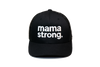 Mama Strong Trucker Black