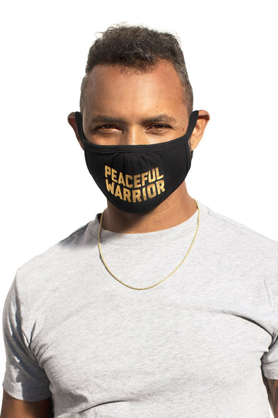 Peaceful Warrior Mask Black/Gold