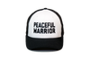 Peaceful Warrior Trucker Black/White