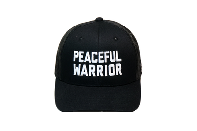 Peaceful Warrior Trucker Black