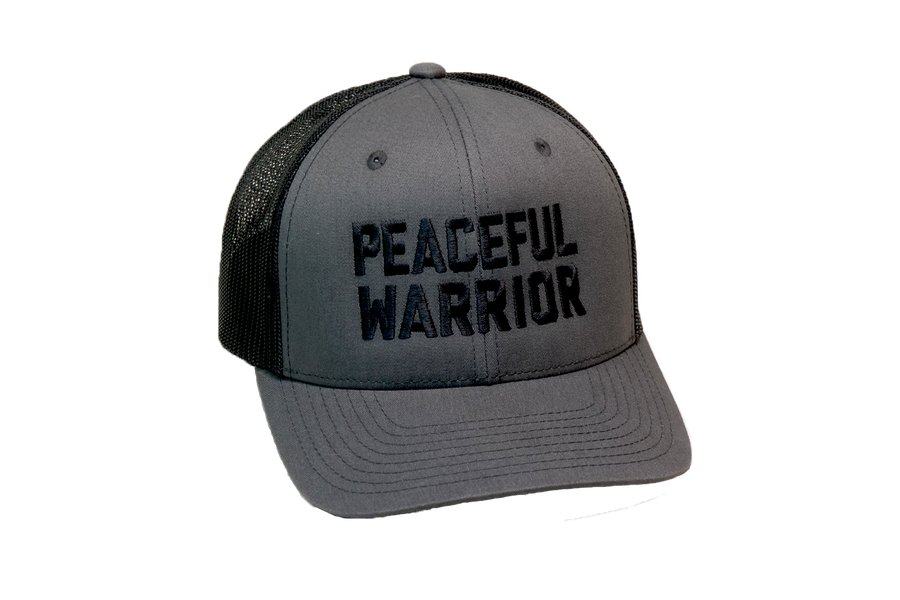 Peaceful Warrior Trucker Charcoal