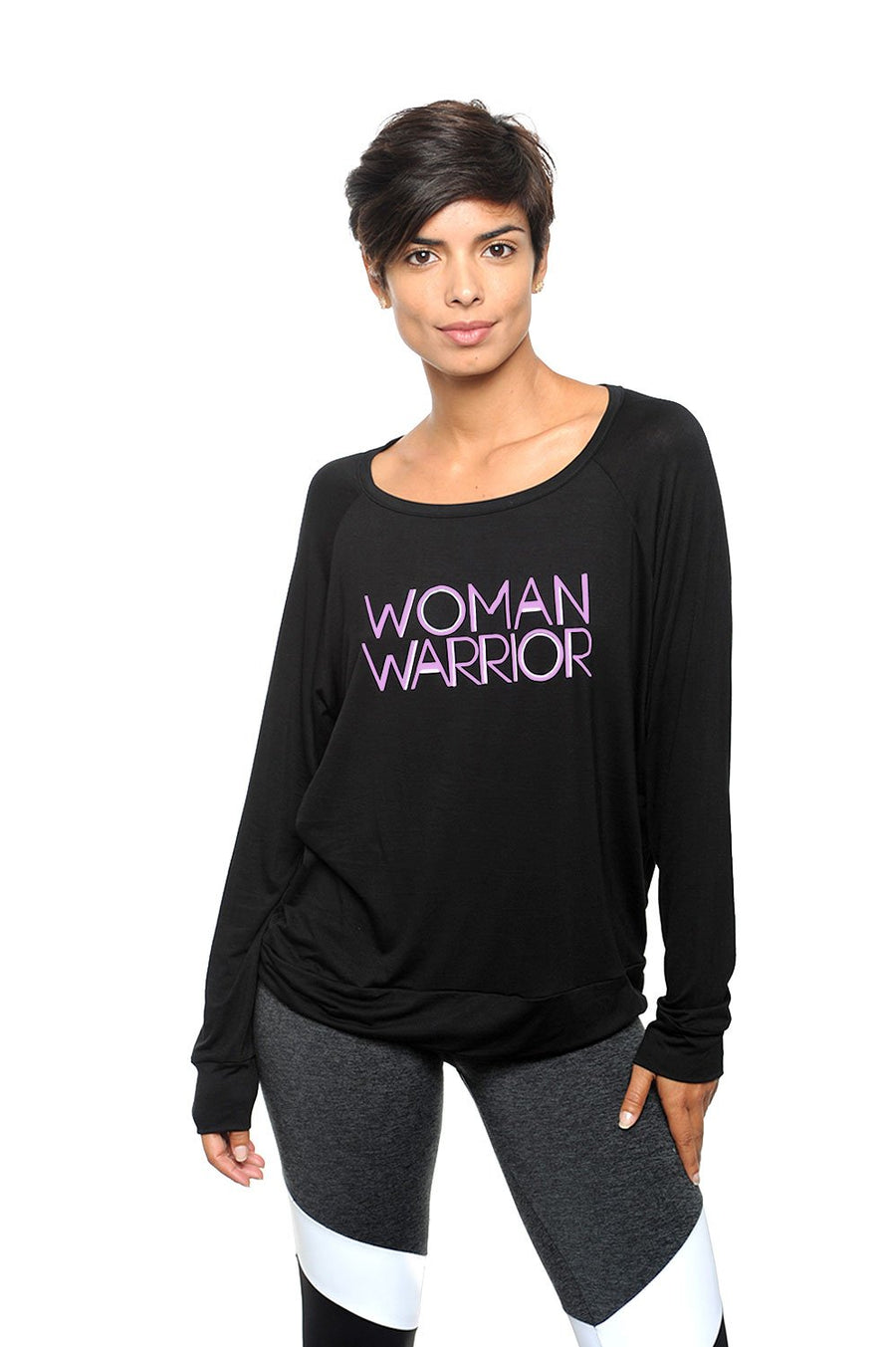 Woman Warrior Long Sleeve Tee Pink