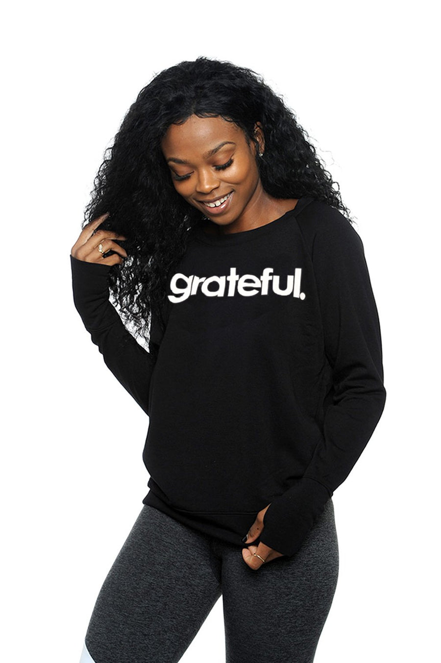 Grateful Period Fleece Long Sleeve Pullover