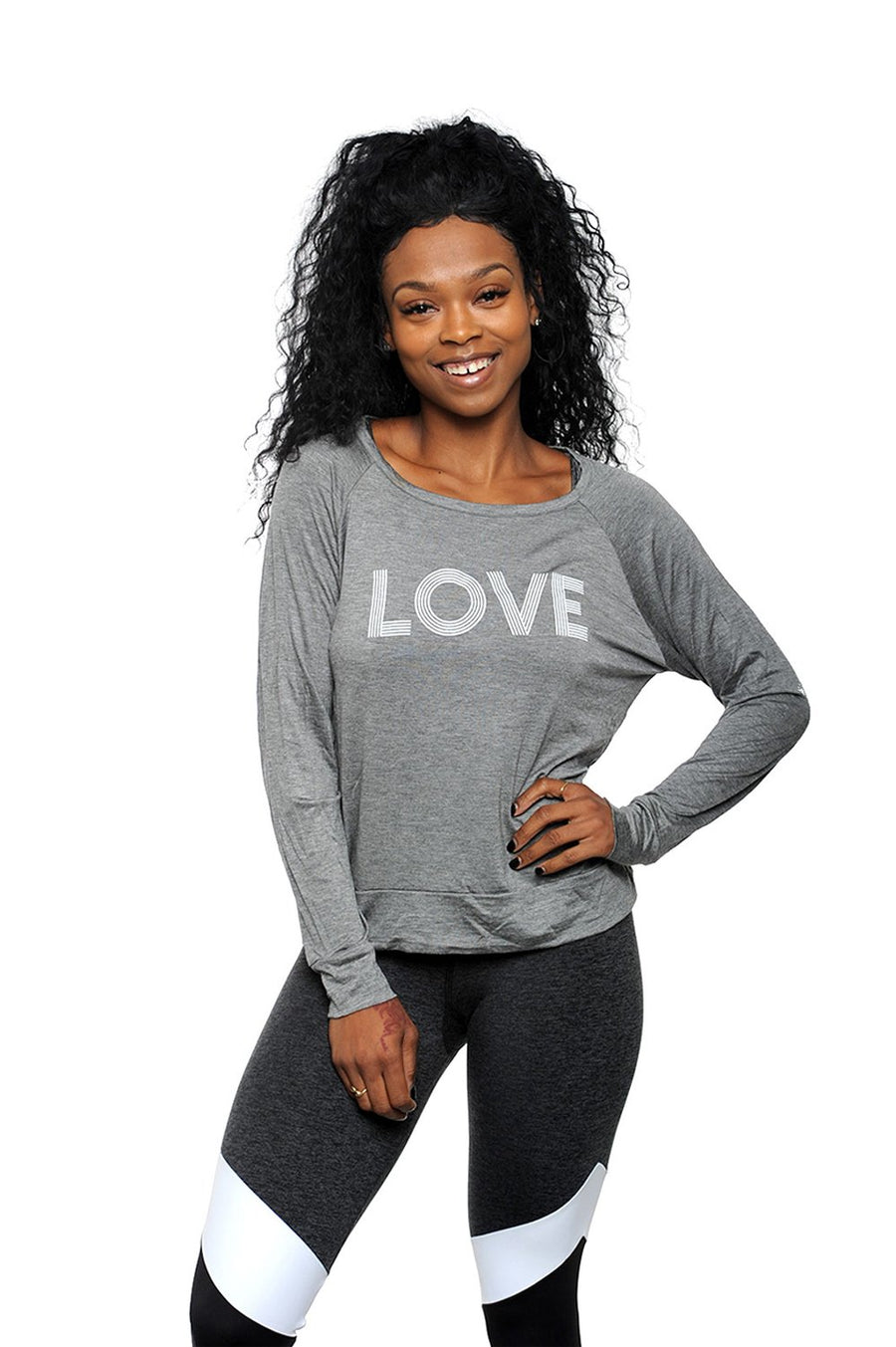 Love Wins Long Sleeve Tee Charcoal