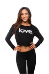 Love Period Fleece Crop Long Sleeve Pullover