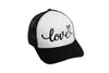 Love Cursive Trucker Black/White/Black
