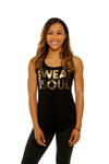 Sweat With Soul Tank Foil Gold