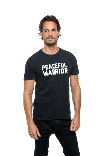 Peaceful Warrior Unisex Crew Neck Tee Black