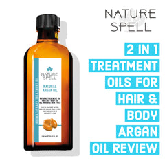 2 in 1 Treatment oils for hair & body Argan Oil Review
