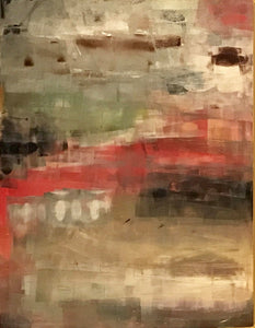 "0130 – Earthtones with Touch of Red 30"" X 40"""