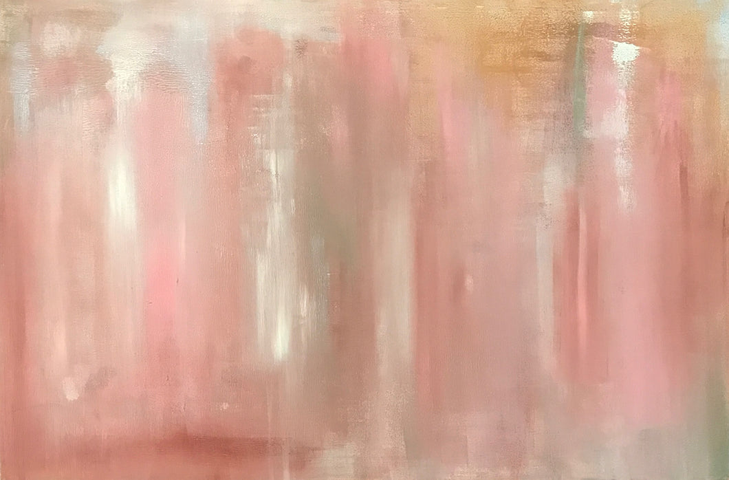 Pink Abstract 30X24