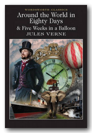 Jules Verne - Around The World In 80 Days & Five Weeks In A Balloon (2nd Hand Paperback) | Campsie Books