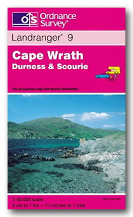 OS Landranger 9 - Cape Wrath, Durness & Scourie (2nd Hand Map) | Campsie Books