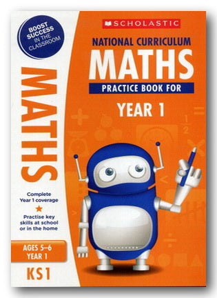 Scholastic - Maths Practice Book For Year 1 (KS1) (New Softback) | Campsie Books