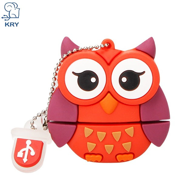 usb 20 flash drive cute bee penguin fox owl shapes 8 16