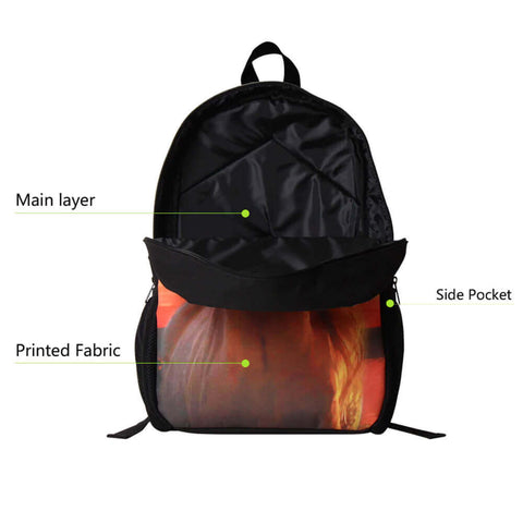 features of a personalized back pack