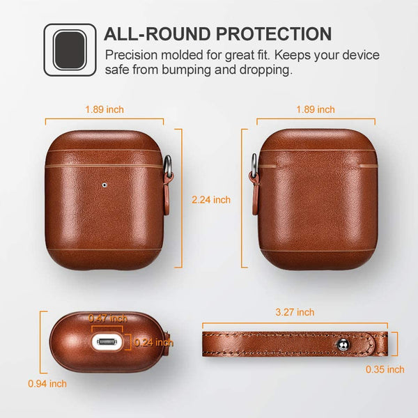 Measurements for customized leather airpod case