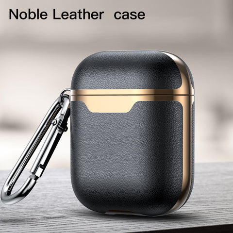 Leather personalized airpod case