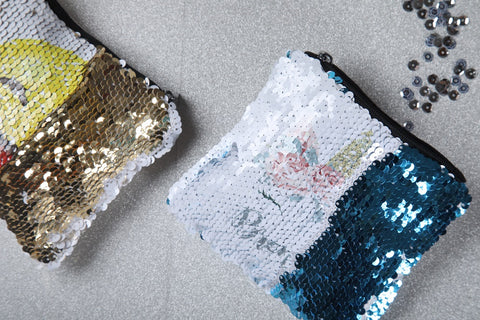 custom sequin coin purse