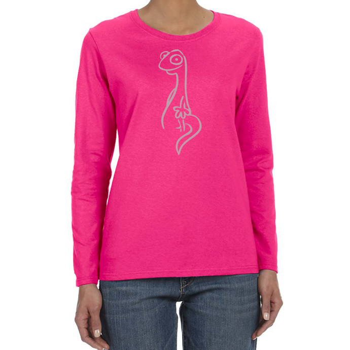 Salamander Ladies Pink Power Logo Long Sleeve